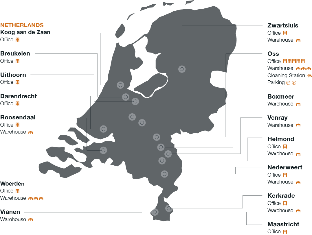 Locations The Netherlands