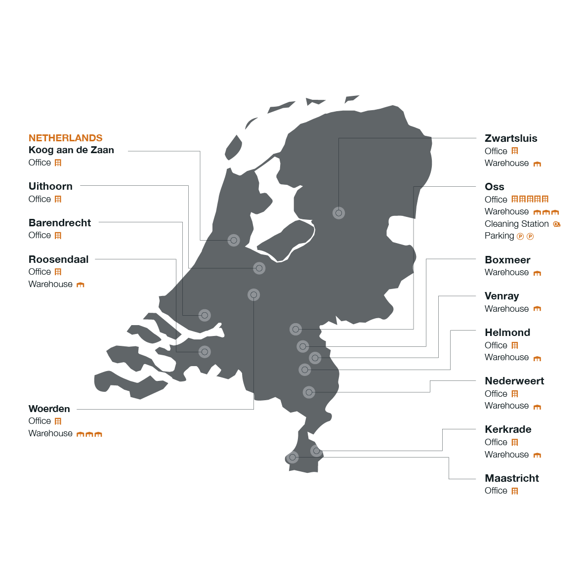 Map The Netherlands